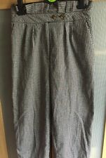 Top Shop Dogtooth Print Smart Casual Trouser Size UK 10