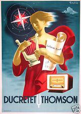 BADIA VILATA RADIO DUCRETET THOMSON  AFFICHE ANCIENNE VINTAGE POSTER Circa 1930