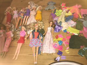 Job Lot Of 13 Barbie/ Simba Toys/Mattel Dolls And Lots Of Additional Clothing.