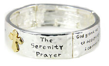 4031547 Serenity Prayer Bracelet Strength Courage Hope AA ALNON 12 Step God G...
