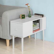 SoBuy®  Beistelltisch in weiß Zeitungsständer Couchtisch mit Schublade,FBT60-W