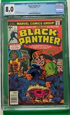BLACK PANTHER #1 CGC 8.0 White Pages Jack Kirby Cover Art 1st Issue 1977