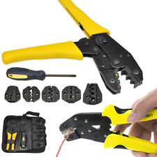 New Ratcheting Terminal Crimper Tool Set Wire Ferrules Crimping For 05 35 Mm