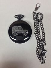 Land Rover Series 1 SWB ref112 emblem polished black case mens pocket watch