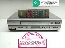 SHARP VIDEOREGISTRATORE VHS ALTA QUALITÀ HIFI STEREO 6 TESTINE DOPPIA SCART NTSC