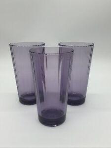 Purple Glass Tumblers Target Set Of Three