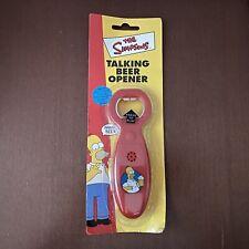 Sealed Homer Simpson Talking Beer Opener Red The Simpsons New Original Packaging