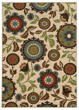 """5'x7' Sphinx Floral Ivory Circles Flowers 41888 Area Rug - Aprx 5' 3"""" x 7' 3"""""""
