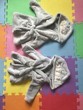 Tu Dressing Gowns Twins Baby 3-6 Months Penguins Grey