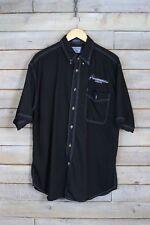 VINTAGE LEE negro americano Hermetics - de Camisa (L)