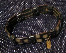 GRANDE Astratto in metallo collegati Braccialetto elasticizzato con una bella Peso e dispongono di Perline