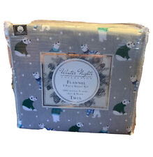 3 Piece 100% Cotton Flannel Sheet Set *Twin - Winter Nights Collection