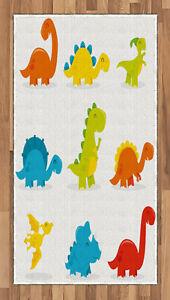 Dinosaur Area Rug Decorative Flat Woven Accent Rug Home Decor 2 Sizes