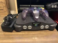 Nintendo N64 Launch Edition Console With 1 Controller And Cables Tested Working