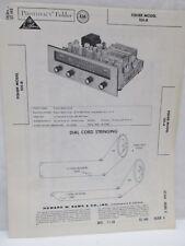 Vintage Sams Photofact Folder Radio Parts Manual Fisher Model 101-R