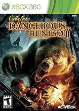 XBOX 360 Cabela's Dangerous Hunts 2011 Video Game 11 large animals hunting guns