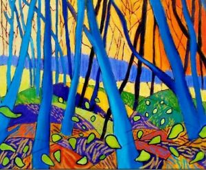 "David Hockney Untitled Trees 18"" x 24"""