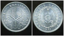 DJIBOUTI  2 francs 1977  ( SPL )  ( bis )