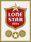 "LONE STAR BEER 9"" x 12"" METAL SIGN"