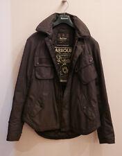 rare Mens Barbour International Standard black waterproof jacket w / hood Medium