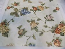 Lot of 4 Rolls New Wallpaper Fruit & Floral Print Green Beacon House 78-57825