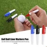 Golfball Triple Track 3 Linienmarkierungsschablone Linienzeichnungsgerät 2 Stift