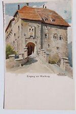 29123 Litho Künstler AK Wartburg bei Eisenach Martin Luther signiert BIESE