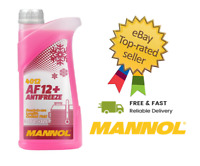 1Litre Antifreeze Coolant Fluid AF12+ Red Ready Mixed -40°C Longlife Mannol 4012