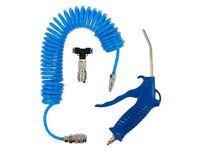 LKW Druckluftpistole Ausblaspistole mit Schlauch Blau KFZ