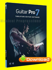 GUITAR PRO 7.5 MUSIC TABLATURE GUITAR NOTATION SOFTWARE - DIGITAL  WIN/MAC 7 .5