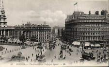 London. Strand & Trafalgar Sq. # 87 by LL / Levy. Black & White. From a Booklet.