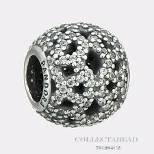 Authentic Pandora Sterling Silver Shimmering Lace CZ Bead 791284CZ