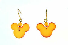 Impresionante Naranja Mickey Mouse pendientes Nueva Marca Summer declaración Lindo (a19)