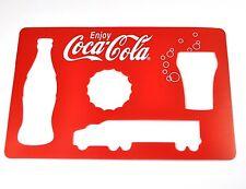 Enjoy Coca Cola Coke Schablone für Flasche Glas Kronkorken Truck USA Stencil