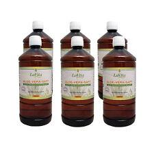 Aloe Vera Saft 6 x 1 Liter - Aloe Barbadensis Miller - 99,7% Reinheit  - LaVita
