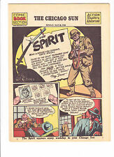 THE SPIRIT  5-23-43    War Cover     Will Eisner