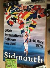 Sidmouth International Folk Festival Silver Jubilee 1979 Poster