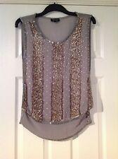 TopShop Women's Sequin Vest Top, Strappy, Cami Tops & Shirts