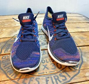 Nike Free 4.0 Flyknit Women's size 9 Blue Purple Orange Sneakers 717076-006