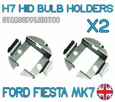 2x H7 METALLO HID Conversione Kit BULB HOLDERS CLIP ADATTATORI FORD FIESTA MK7