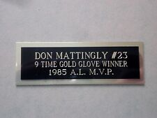 """Don Mattingly Nameplate For A Signed Baseball Ball Cube Or Card Plaque 1"""" X 3"""""""