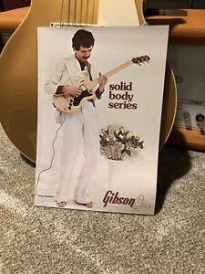 Vintage 1975 Gibson Solid Body Guitar Catalog Brochure SG L5S L6S Marauder
