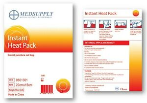 Medsupply Instant Heat Hot Pack, Used by All Major Hospitals, Best Brand!