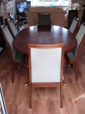 Mahogany Oval Dining Tables Sets with Extending