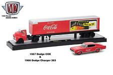 M2 Machines Auto Hauler Coca-Cola 1957 Dodge COE & 1966 Dodge Charger 383