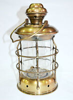"""Antique Brass Ship Hanging Oil Lantern Lamp For Home Collectible Decorative 11"""""""