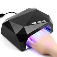 Lampe UV/LED Ongles Séchoir pour Manucure Gel Émail Permanent Noir