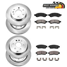 Front+Rear Rotors & Ceramic Pads For Buick Enclave Chevy Traverse Acadia Outlook (Fits: Saturn)