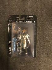 "Mortal Kombat X 3.75"" Action Figure Raiden from Mezco Toyz MIB 1:18"