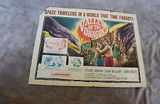 Valley of the Dragons 1961 JULES VERNE Dinosaurs Sci-Fi Half Sheet Poster G C4